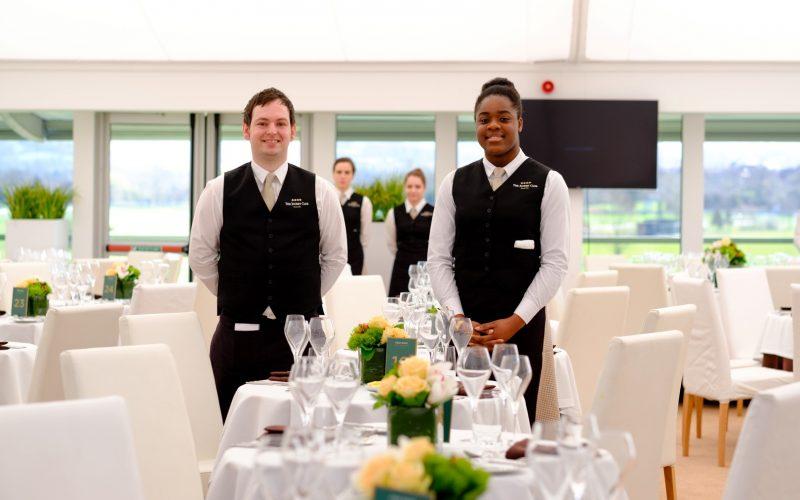 waiter and waitress reception